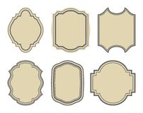 Set Of Stickers, Vintage Frames Stock Photography
