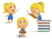 Free Set Of Student School Girls Stock Image - 15072501