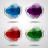 Set Of Translucent Crystal Ball. Stock Photo