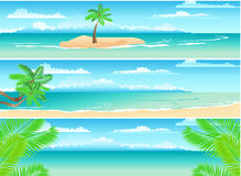 Set Of Tropical Banners Stock Image