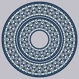 Set Of Two Plates Nested Into Each Other, Lacy Round Ornament Royalty Free Stock Photo