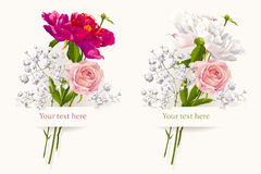 Set Of Two Summer Bouquets Royalty Free Stock Image