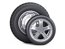 Set Of Two Tires. New Car Wheels With Disk For Cars And Trucks -