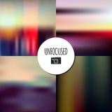 Set Of Unfocused Landscape Vector Backgrounds Stock Images