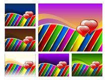 Set Of Valentines Day Backgrounds Stock Photography
