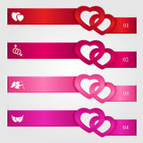 Set Of Valentines Day Infographics Royalty Free Stock Photo