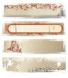 Set Of Vector Beige Grunge Banners Royalty Free Stock Images