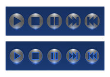 Set Of Vector Buttons, On And Off Stock Image