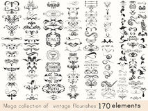 Set Of Vector Calligraphic Elements And Page Decorations Stock Photo