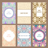 Set Of Vector Card Templates Stock Photo