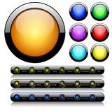 Set Of Vector Glossy Buttons Stock Images