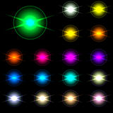 Set Of Vector Glowing Special Light Effect Star 1 Royalty Free Stock Image