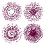 Set Of Vector Guilloche Rosettes Royalty Free Stock Image