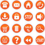 Set Of Vector Icons Of Orange Royalty Free Stock Photography