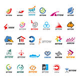 Set Of Vector Logos Arrow Stock Photos