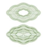Set Of Vector Oval Guilloche Rosettes Stock Photo