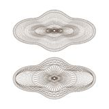Set Of Vector Oval Guilloche Rosettes Stock Photos