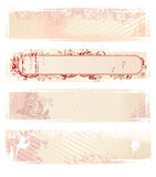 Set Of Vector Pink Grunge Banners Royalty Free Stock Photo
