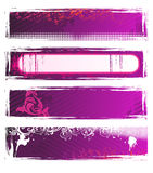 Set Of Vector Pink Grunge Banners Stock Image