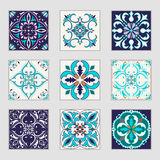 Set Of Vector Portuguese Tiles. Beautiful Colored Patterns For Design And Fashion With Decorative Elements Royalty Free Stock Images
