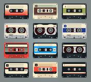 Set Of Vector Retro Audio Cassettes Stock Photography