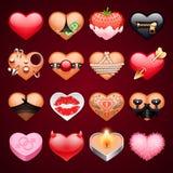 Set Of Vector Sex Hearts Icons Stock Photos