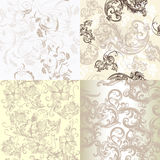 Set Of Vector Soft Patterns In Classic Style Royalty Free Stock Images