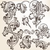 Set Of Vector Swirls In Vintage Style For Design Royalty Free Stock Photo