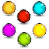 Set Of Vector Web Buttons Royalty Free Stock Photo