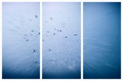 Set Of Vertical Banners. Abstract Blue Winter Backgrounds Royalty Free Stock Photography