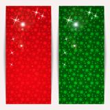 Set Of Vertical Christmas Banners Royalty Free Stock Images
