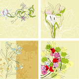 Set Of Vintage Background Royalty Free Stock Photos
