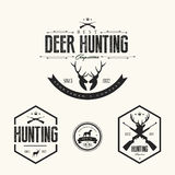 Set Of Vintage Hunting Labels And Badges Stock Photos