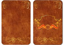 Set Of Vintage Leather Covers For Books. 03 Royalty Free Stock Photo