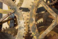 Set Of Vintage Rusted Gearwheels Royalty Free Stock Photos