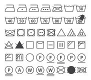 Set Of Washing Symbols (Laundry Icons) Royalty Free Stock Photography