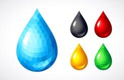 Free Set Of Water, Honey, Blood, Petrol Drops Stock Photo - 102376250