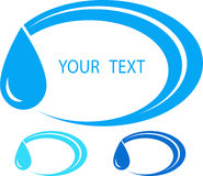 Free Set Of Water Sign With Place For Text Royalty Free Stock Photography - 28351527