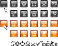 Free Set Of Web Icons. Royalty Free Stock Photography - 4244987