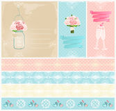Set Of Wedding Invitations And Tape Royalty Free Stock Photo