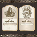 Set Of Wine Labels Royalty Free Stock Photos