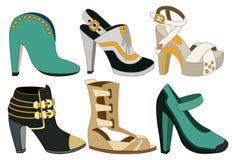 Set Of Women Shoes Stock Photos