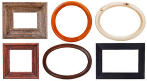Set Of Wooden Picture Frame Royalty Free Stock Image