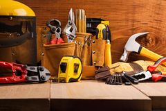 Free Set Of Working Tools Royalty Free Stock Photography - 20370277
