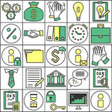 Set ofBusiness Icons Royalty Free Stock Images
