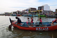 Set off for fishing. Genesis La Nina beginning of his usual rainy season, but in several places in Java is still not raining exploited number of fishermen Royalty Free Stock Images