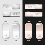 Set of ON-OFF switch buttons Royalty Free Stock Photo