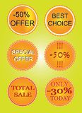 Set of offer labels Stock Images