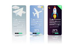 Set of the offers tariffs plan mobile company. It is easy to choose a tariff for your needs. Price list set, Tariff plan royalty free illustration