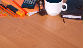 Set of office accessories Royalty Free Stock Image